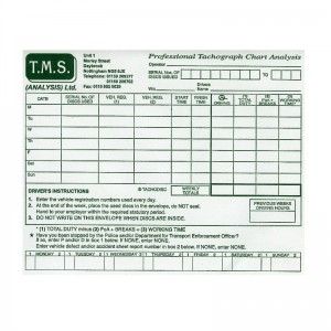 Tachograph Paper Chart Envelopes (Multiples of 100)