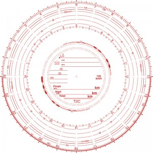 Analogue Tachograph Charts 125 kph