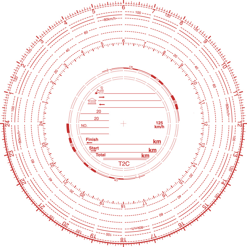 Analogue Tachograph Charts 125 kph - TMS Analysis - Tacho Specialist