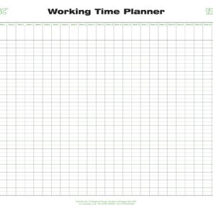 Working Time Wall Planner